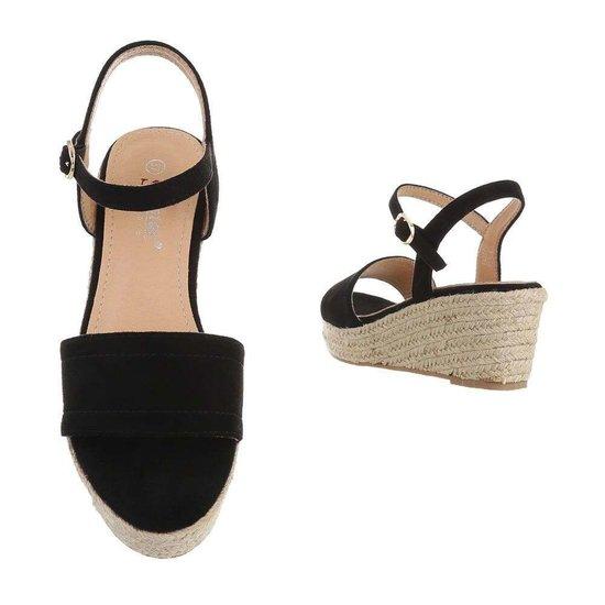 Zwarte halfhoge sandaal Soula.