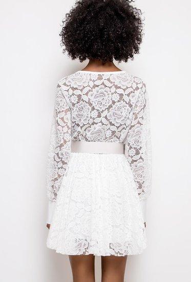 Witte mini jurk in kant.