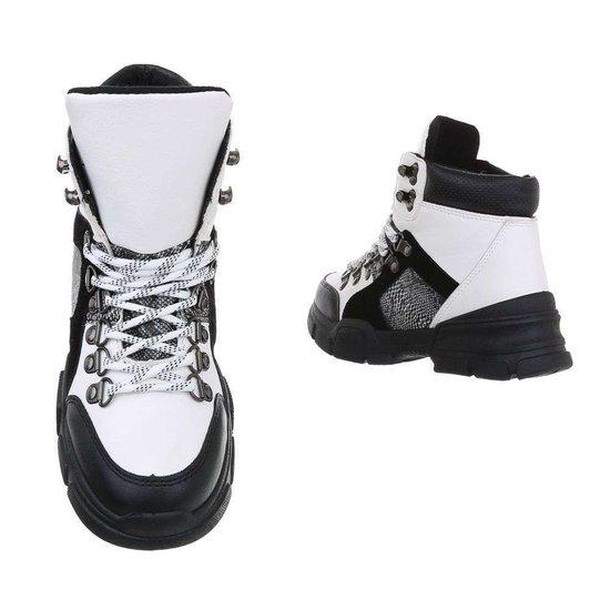 Trendy hoge witte sneaker Siya.
