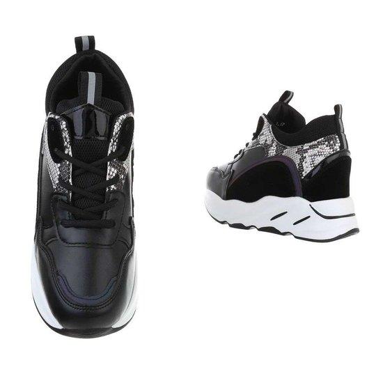 Fashion hoge zwart/snake sneaker Sirina
