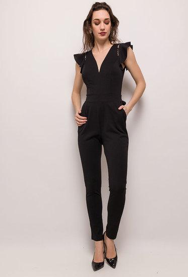 Modieuze zwarte jumpsuit.