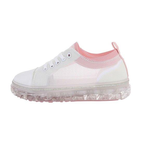 Modieuze witte mix sneaker Samia.