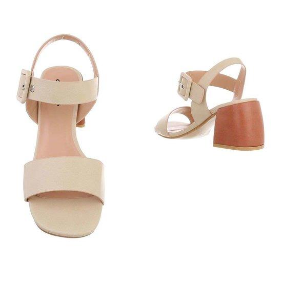 Modieuze beige sandaal Ester.
