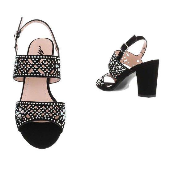 Zwarte halfhoge sandaal Soraya.