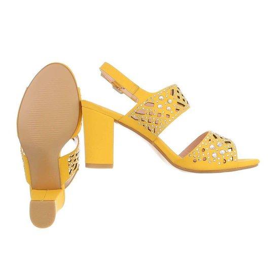 Gele halfhoge sandaal Soraya.