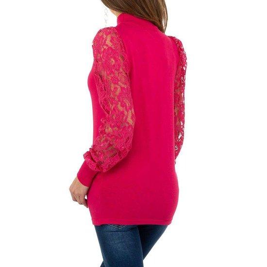 Klassieke rose pullover.