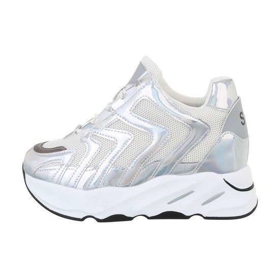 Fashion hoge witte sneaker Masha.
