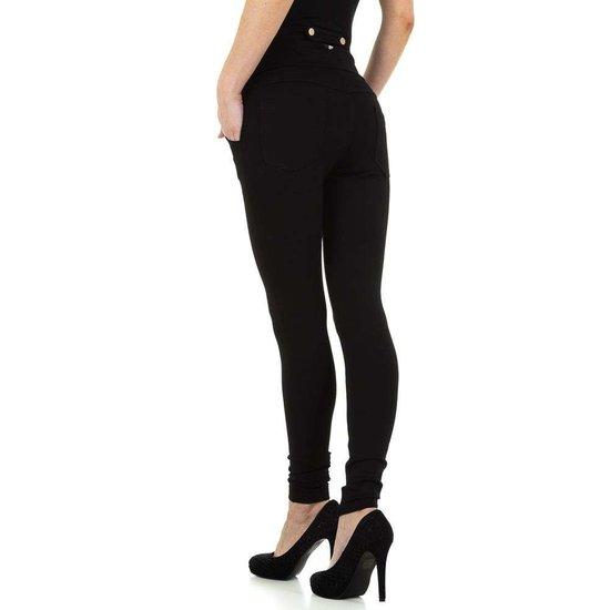 Fashion zwarte high waist broek.
