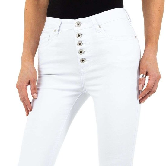 Trendy witte jeans.