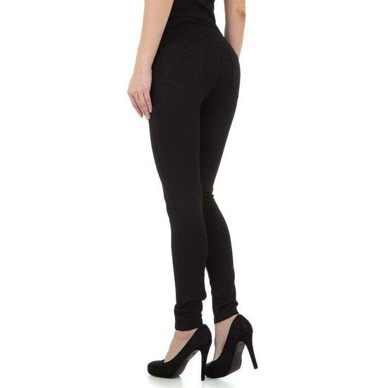 Stylish zwarte high waist broek.