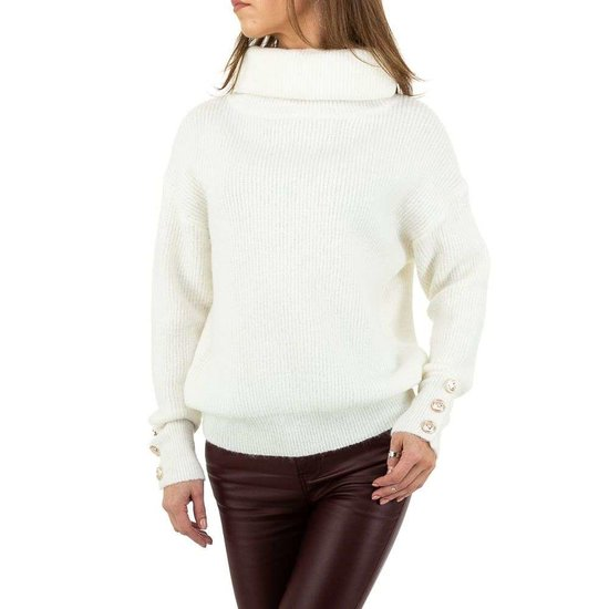 Oversized witte pullover.