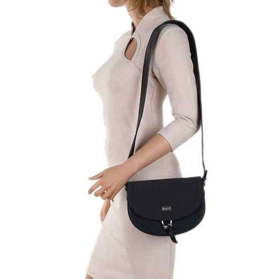 Hippe kleine zwarte schoudertas.