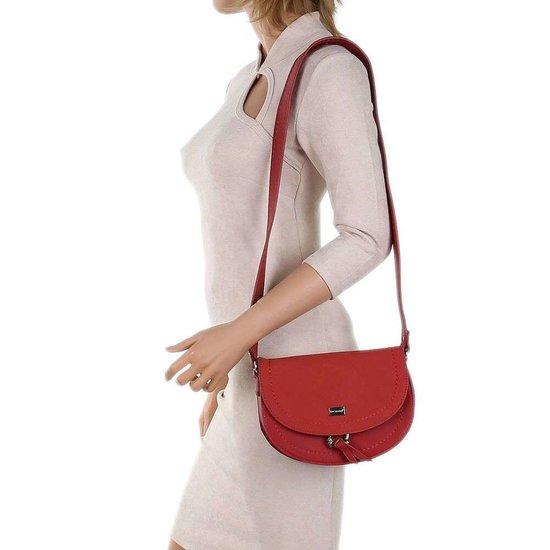 Hippe kleine rode schoudertas.