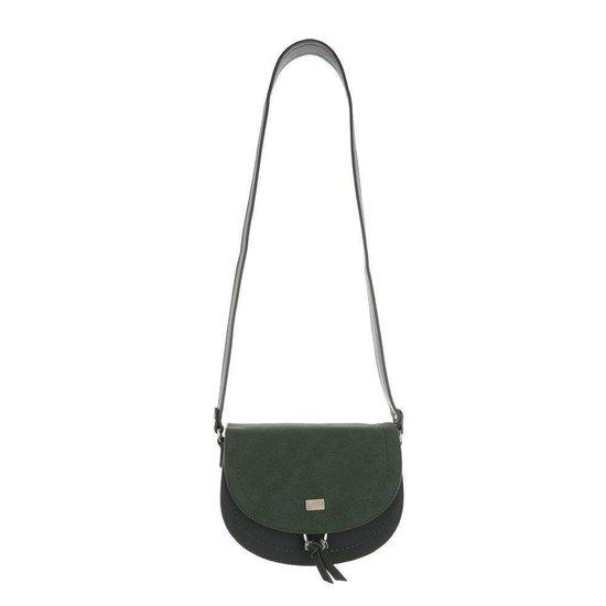 Hippe kleine groene schoudertas.