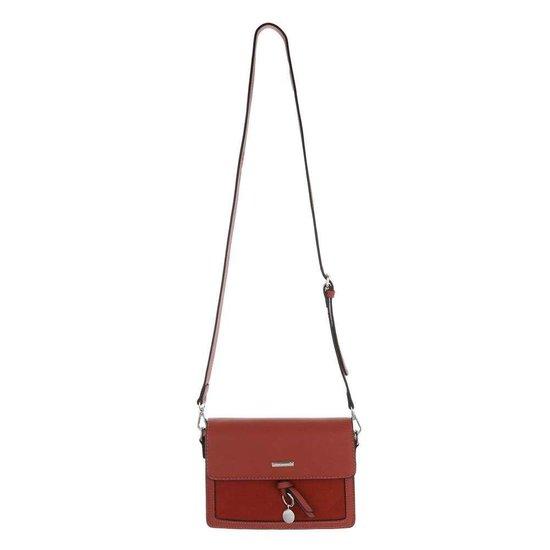 Classy kleine rechthoekige rode schoudertas