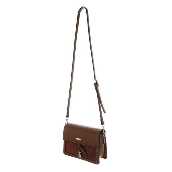 Classy kleine rechthoekige bruine schoudertas