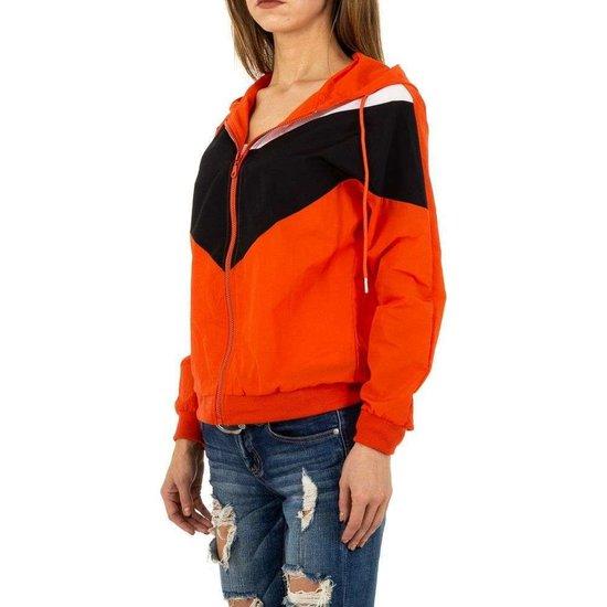 Casual rode/zwarte sweater