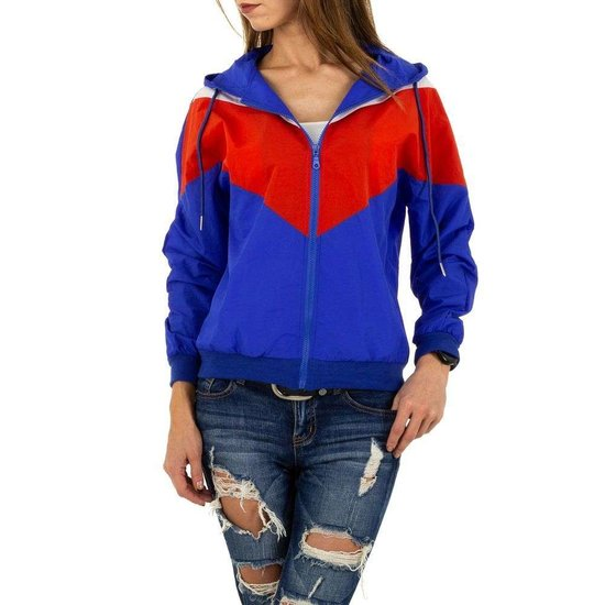 Casual blauw/rode sweater