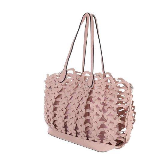 Trendy roze shopperbag.