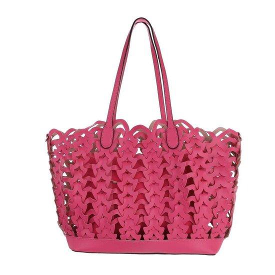 Trendy fuchsia shopperbag.
