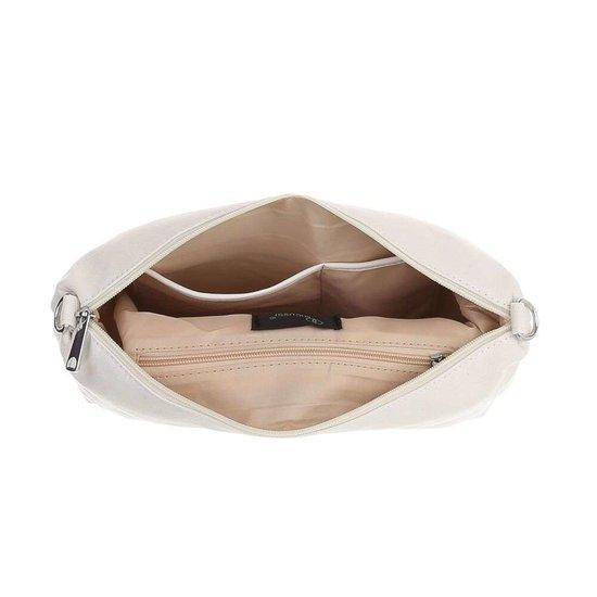 Trendy witte shopperbag.