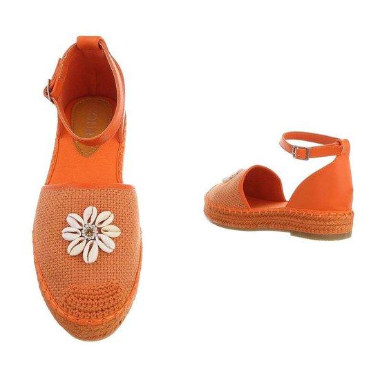 Trendy oranje espadrille Vala.
