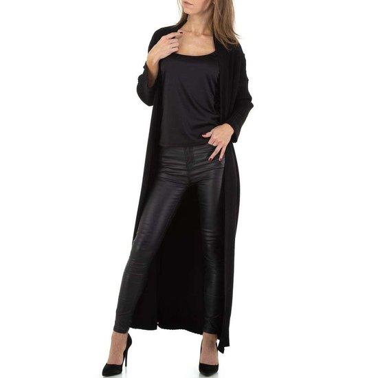 Modieuze zwarte cardigan.