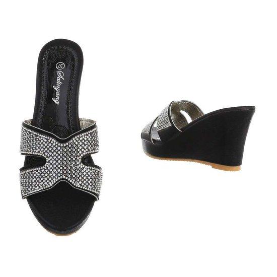 Fashion zwarte mule Vika.