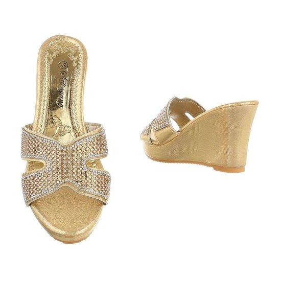 Fashion gouden mule Vika.