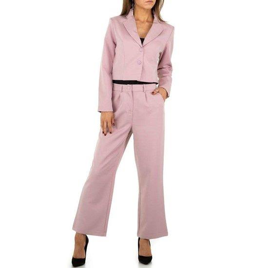 Trendy 2 delige roze set.