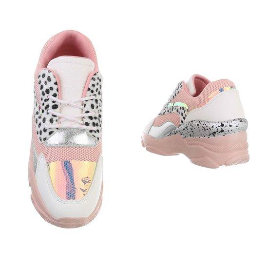 Fashion hoge roze sneaker Vincy.SOLD OUT