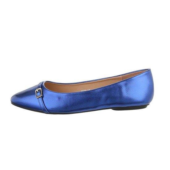 Trendy blauwe ballerina Claire.