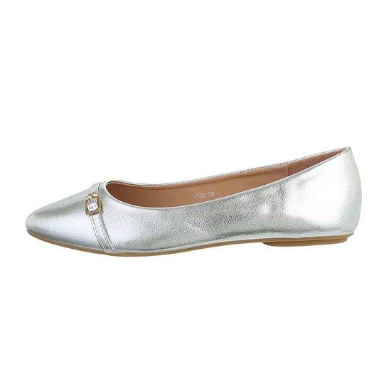 Trendy zilveren ballerina Claire.