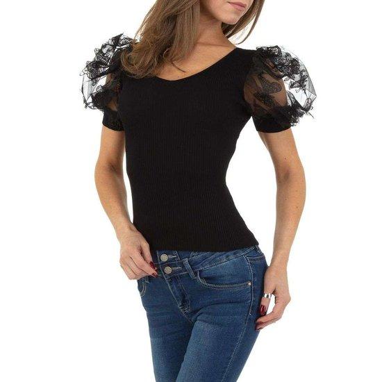 Trendy zwarte blouse/top.