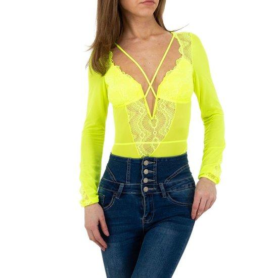 Trendy gele neon body.