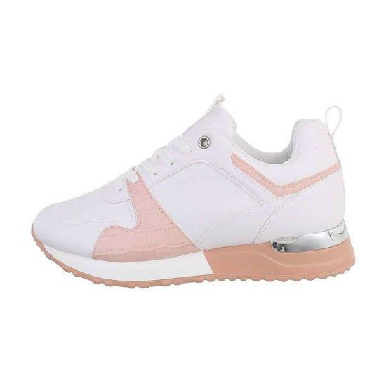 Trendy witte/rose sneaker Naomi.