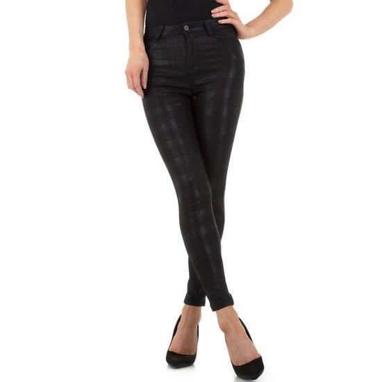 Fashion zwarte geruite broek.