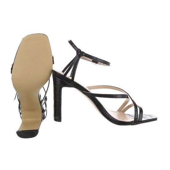 Stylisch zwarte hoge sandaal Lizet.