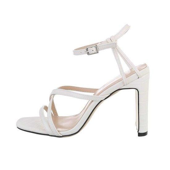 Stylisch witte hoge sandaal Lizet.