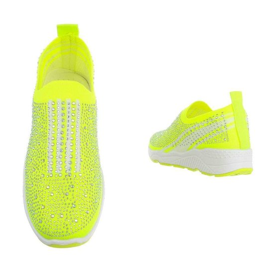 Gele lage step in sneaker Lize.