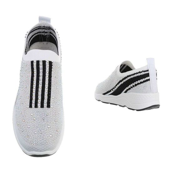 Witte lage step in sneaker Lize.