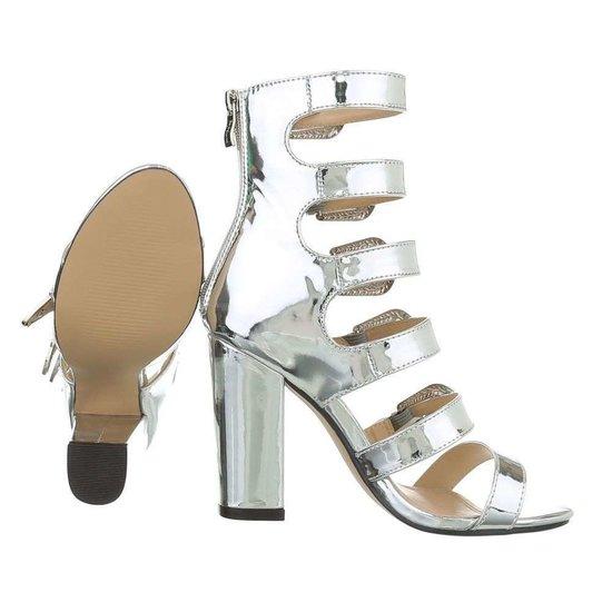 Trendy zilveren sandaal Fabia.