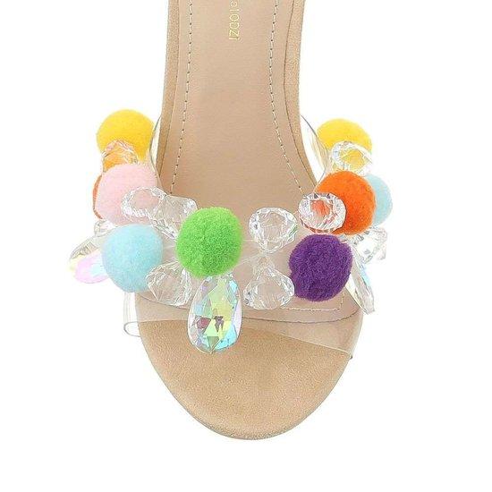 Beige hoge sandaal Gigi.