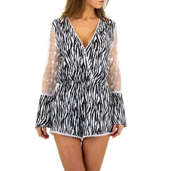 Trendy zebra kleurige romper.