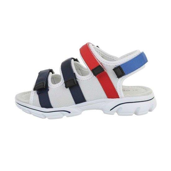 Trendy witte/mix kinder sandaal Jani.