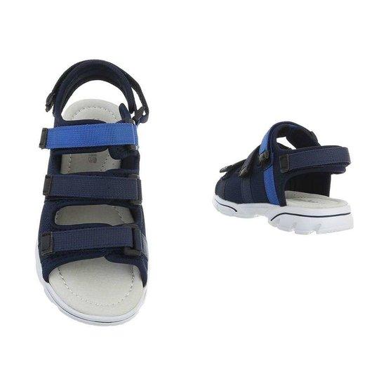 Trendy blauwe kinder sandaal Jani.