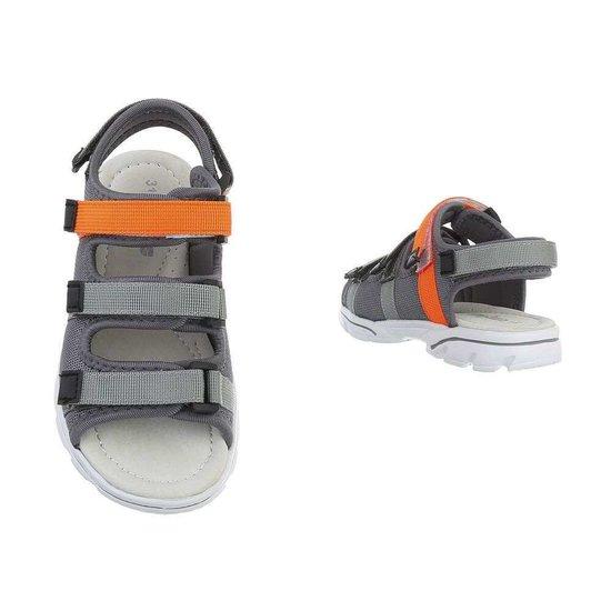Trendy grijze kinder sandaal Jani.