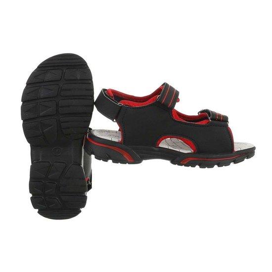 Zwarte kinder sandaal Leno.