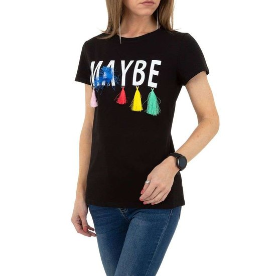 Zwarte T-shirt MAYBE. SOLD OUT