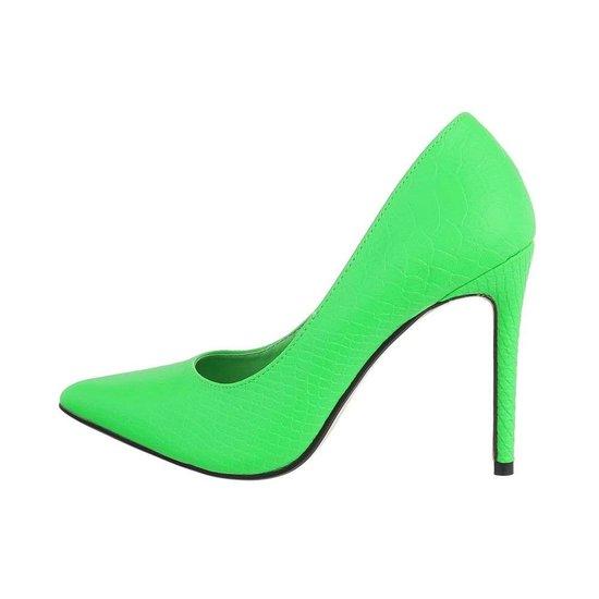 Hippe groene croco pump Zari.